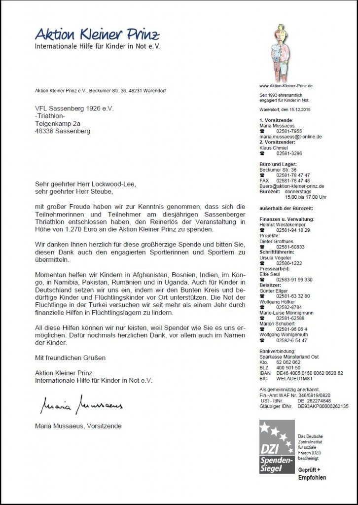 Kleiner Prinz Spendenbrief15
